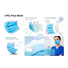 Disposable Face Masks, Box of 50