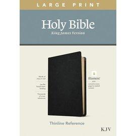 KJV Large Print Thinline Reference Bible, Black Genuine Leather (Filament)