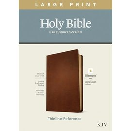 KJV Large Print Thinline Reference Bible, Brown Genuine Leather (Filament)