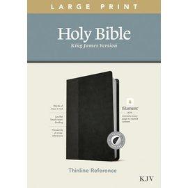 KJV Large Print Thinline Reference Bible, Black/Onyx Leatherlike, Indexed (Filament)