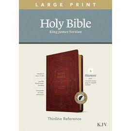 KJV Large Print Thinline Reference Bible, Ornate Burgundy Leatherlike, Indexed (Filament)