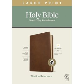 NLT Large Print Thinline Reference Bible, Rustic Brown Leatherlike, Indexed (Filament)