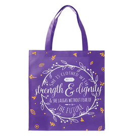 Tote Bag - Strength and Dignity, Purple