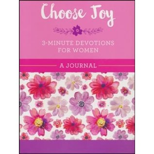 Choose Joy: 3-Minute Devotions for Women Journal, Spiral-bound