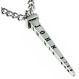 "Nail Necklace: Forgiven 24"" Stainless Steel"