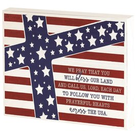 Wall Art - Our Nations Prayer with Flag