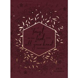 2021 Planner - Trust in the Lord, Burgundy