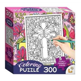 Coloring Puzzle: Cross