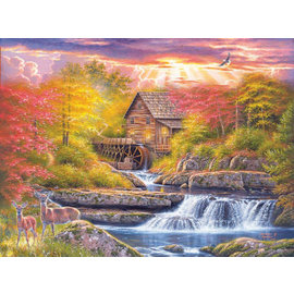 Puzzle: Glade Creek Mill at Dusk, 1,000 Pieces
