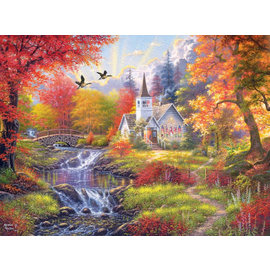 Puzzle: Woodland Church, 1,000 Pieces