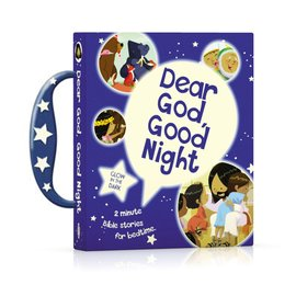 Dear God, Good Night: Glow-in-the-Dark 2 Minute Bible Stories for Bedtime, Board Book