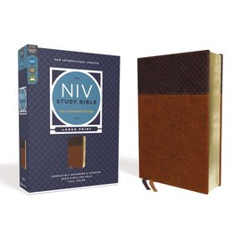NIV Large Print Study Bible: Fully Revised Edition, Brown/Tan Leathersoft