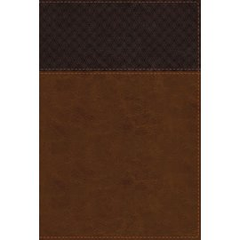 NIV Large Print Study Bible: Fully Revised Edition, Brown/Tan Leathersoft, Indexed
