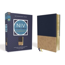 NIV Study Bible: Fully Revised Edition, Navy/Tan Leathersoft