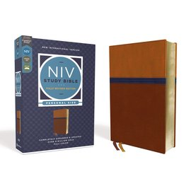 NIV Personal Size Study Bible: Fully Revised Edition, Brown/Blue Leathersoft