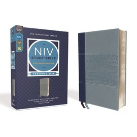 NIV Personal Size Study Bible: Fully Revised Edition, Navy/Blue Leathersoft