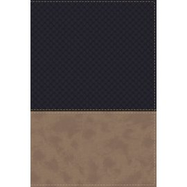 NIV Study Bible: Fully Revised Edition, Navy/Tan Leathersoft, Indexed
