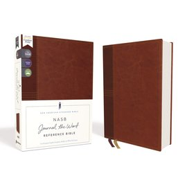 NASB Journal the Word Reference Bible, Brown Leathersoft over Board