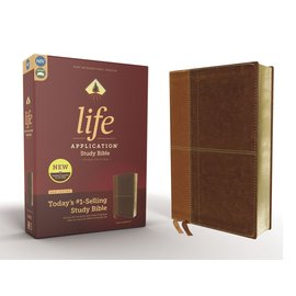 NIV Life Application Study Bible 3, Brown Leathersoft, Red Letter