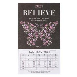 2021 Mini Magnetic Calendar: Believe