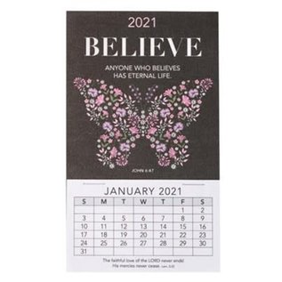 2021 Mini Magnetic Calendar: Believe