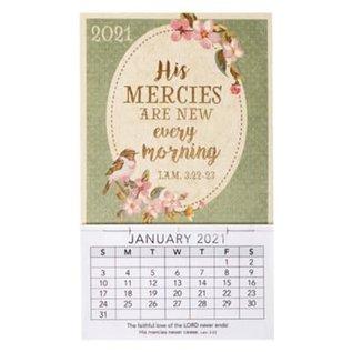 2021 Mini Magnetic Calendar: His Mercies