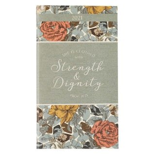 2021 Daily Pocket Planner: Strength & Dignity