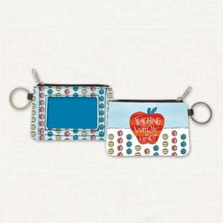 Coin Purse - Teacher, ID and Keychain