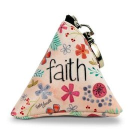 Triangle Bag - Faith, with Carabiner Clip