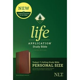 NLT Personal Size Life Application Study Bible 3, Brown/Mahogany LeatherLike