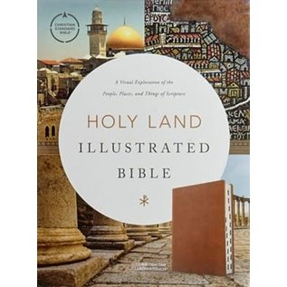 CSB Holy Land Illustrated Bible, British Tan LeatherTouch