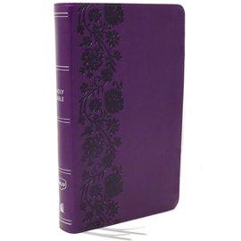 NKJV Compact Reference Bible, Purple Leathersoft