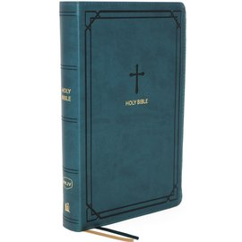 NKJV Compact Reference Bible, Teal Leathersoft