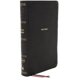 NKJV Large Print Personal Size Reference Bible, Black Leathersoft