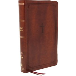 NKJV Large Print Personal Size Reference Bible, Brown Leathersoft
