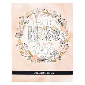 Coloring Book - Faith Hope Love