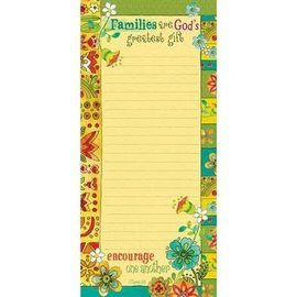 Magnetic List Pad - Families