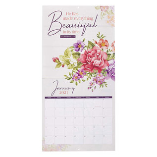 2021 Wall Calendar: Bloom Where You Are Planted
