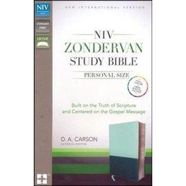 NIV Personal Size Zondervan Study Bible, Sea Glass/Caribbean Blue Italian Duo-Tone