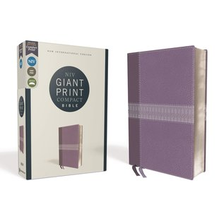 NIV Giant Print Compact Bible, Purple Leathersoft