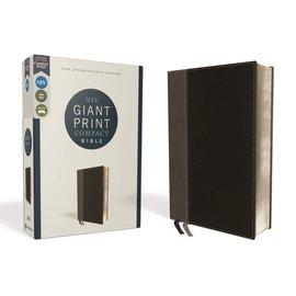 NIV Giant Print Compact Bible, Black Leathersoft