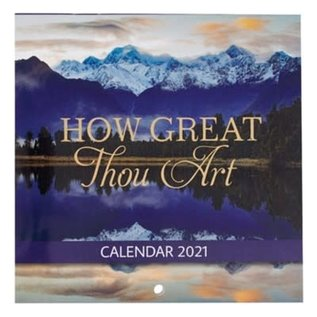 2021 Mini Wall Calendar: How Great Thou Art