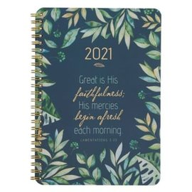 2021 Planner: Great is His Faithfulness, Wirebound