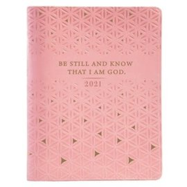 2021 Planner for Women: Be Still w/Zipper