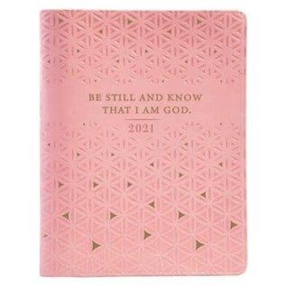 2021 Planner for Women: Be Still w/Zipper