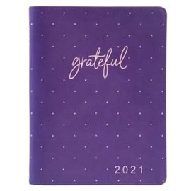 2021 Planner for Women: Grateful w/Zipper