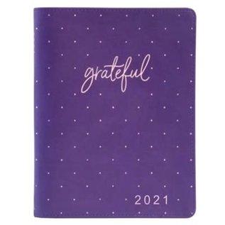 2021 Planner for Women: Grateful w/Zipper