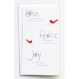 Christmas Boxed Cards: Love, Peace, Joy (Little Inspirations)