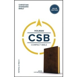 CSB Compact Bible, Brown LeatherTouch
