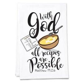 Tea Towel - WIth God